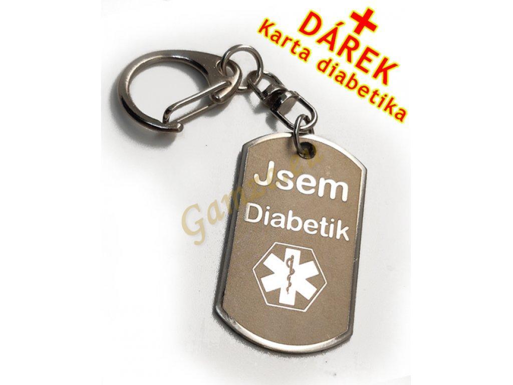Přívěsek - Jsem Diabetik na bundu, klíče