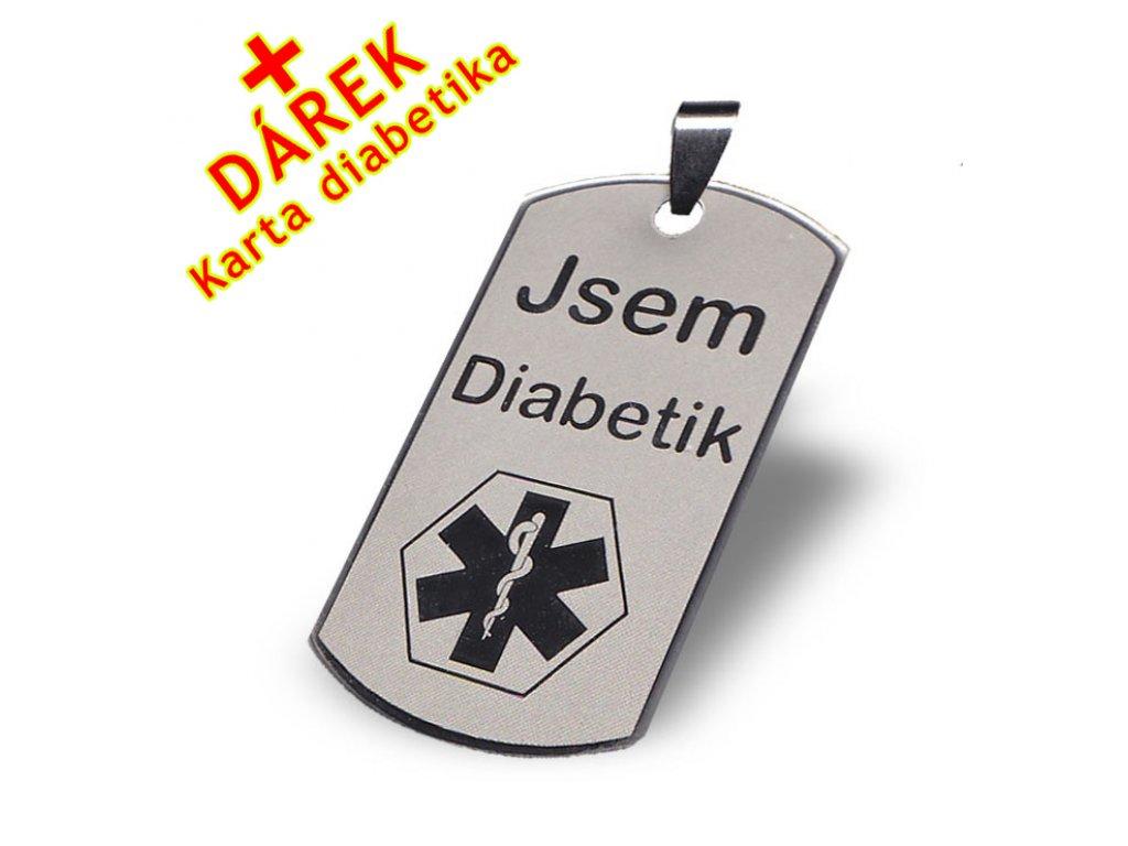 Přívěsek - Jsem diabetik