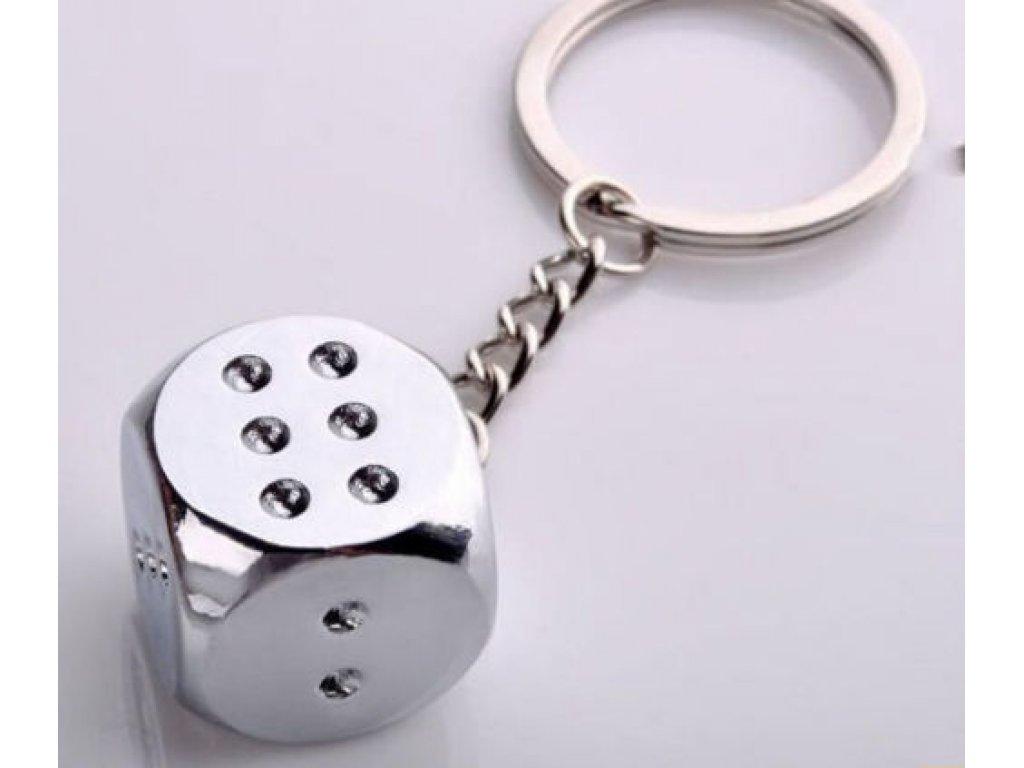 Přívěsek na klíče - kostka