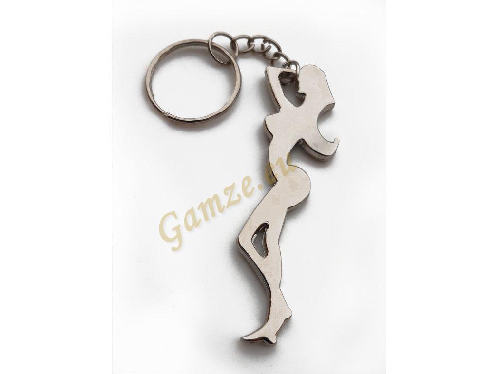 Přívěsek na klíče modelka