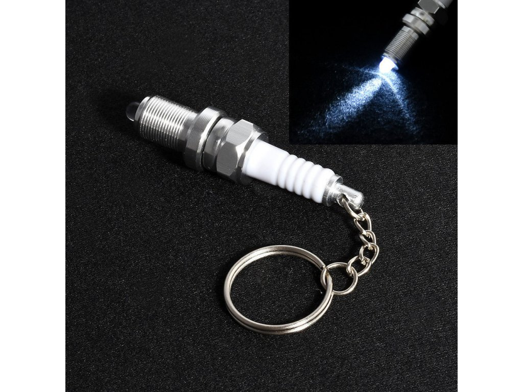 Přívěsek na klíče - motorová svíčka