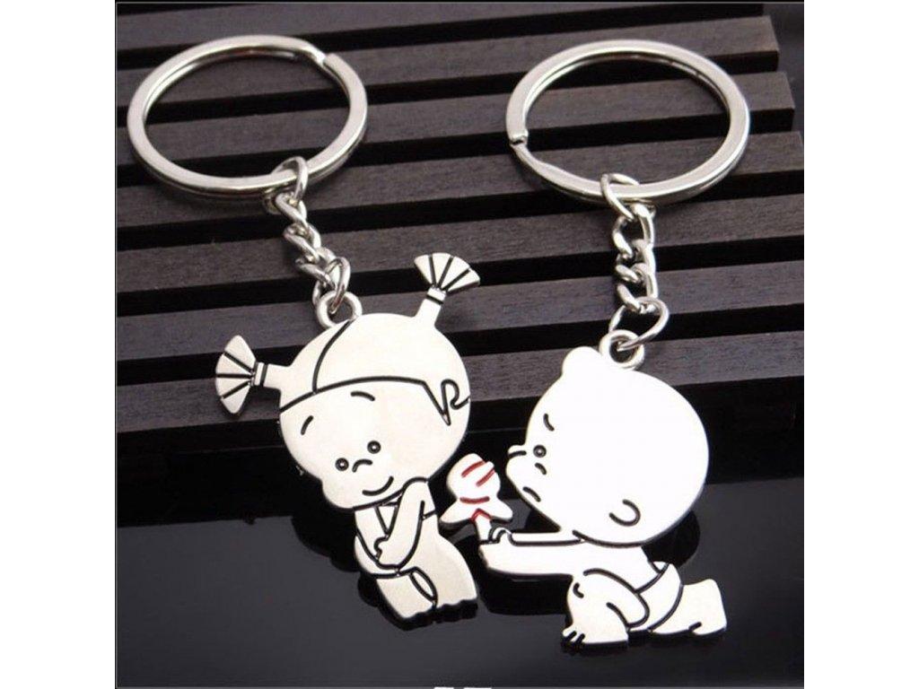 Přívěsky na klíče - holčička, chlapeček pro pár 2