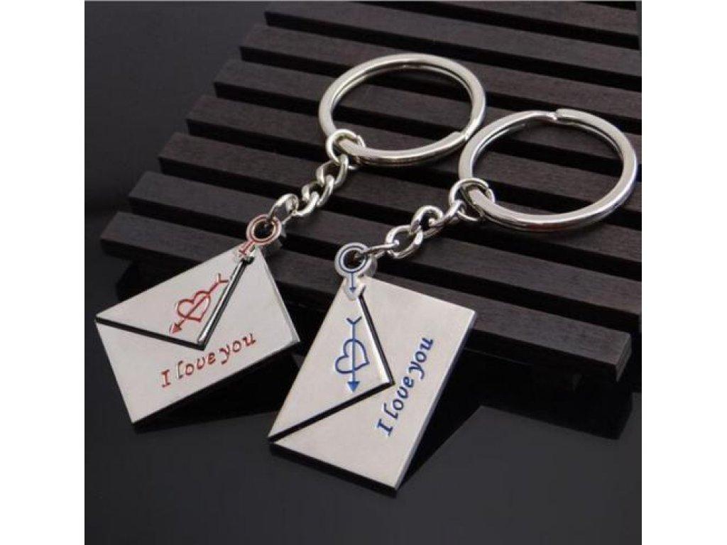 Přívěsky na klíče - obálky pro pár