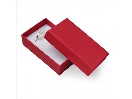 Dárková krabička na přívěsky - barva červená 2