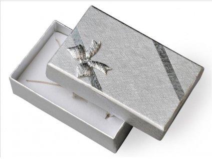 Dárková krabička na přívěsky - barva stříbrná 2