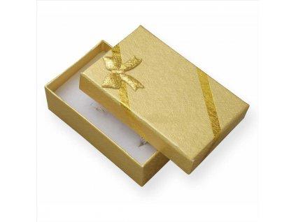 Dárková krabička na přívěsky - barva zlatá