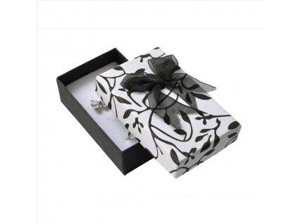 Dárková krabička na přívěsky - černá s mašlí