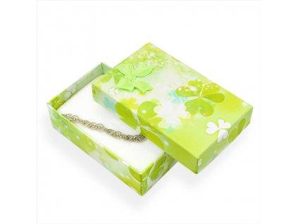 Dárková krabička na přívěsky - zelená s mašlí