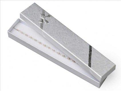 Dárková krabička na řetízky - barva stříbrná