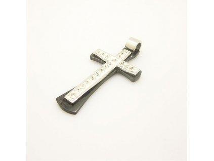 Křížek stříbrno-černé barvy 4