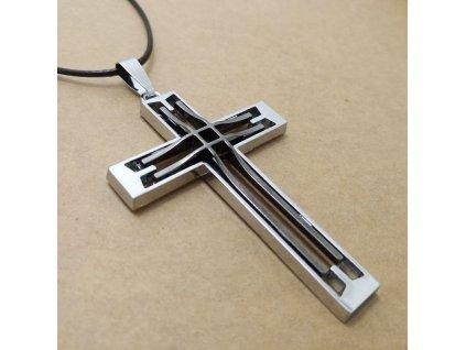 Křížek - stříbrno-tmavé barvy