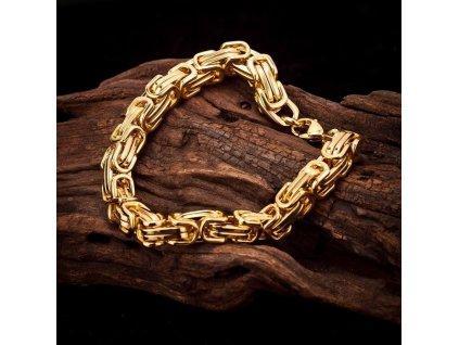 Náramek - 5 mm - délka 21 cm - zlatá barva