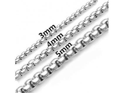 Náramek - 5 mm - délka 22.5 cm