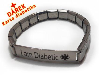 Náramek - Jsem Diabetik 2 - natahovací