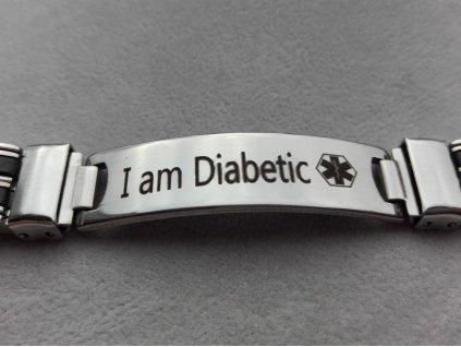 Náramek - Jsem Diabetik - 21.5 cm - 1.2 cm