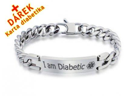Náramek - Jsem Diabetik - 9.5 mm