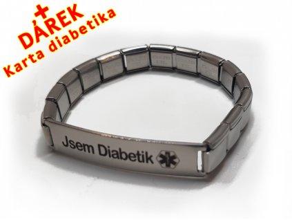 Náramek - Jsem Diabetik - natahovací