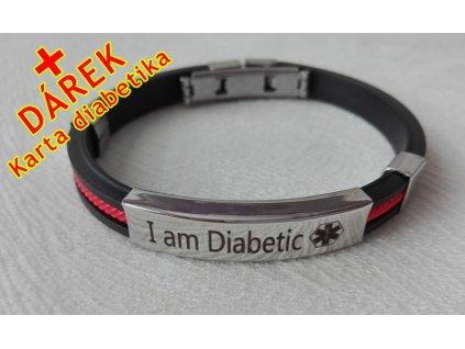 Náramek - Jsem Diabetik - průměr 6.5 cm - 4