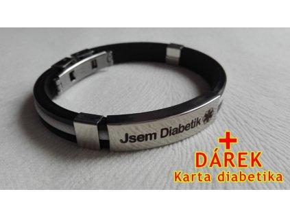 Náramek - Jsem Diabetik - průměr 6.5 cm - 5