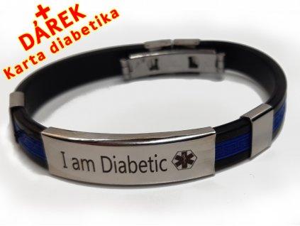 Náramek - Jsem Diabetik průměr 6.5 cm - modrý 3 en