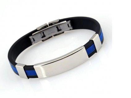 Náramek s vlastním motivem - silikonový modrý