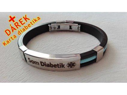 Náramek - Som Diabetik - průměr 6.5 cm - světle modrý