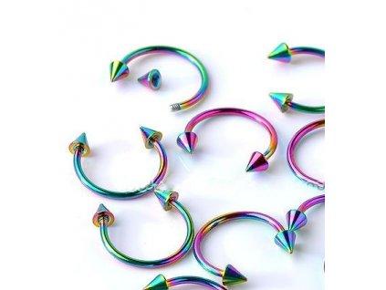 Piercing - duhový 2