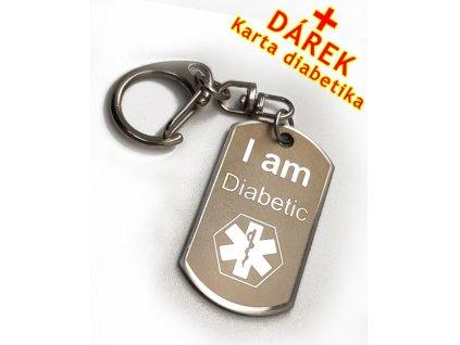 Přívěsek Diabetik na bundu, klíče
