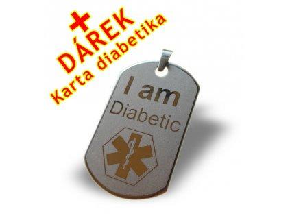 Přívěsek I am Diabetic - Jsem diabetik 2