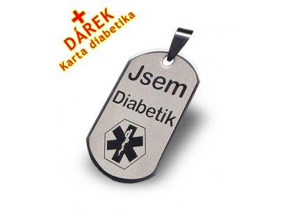 Přívěsek - Jsem diabetik malý