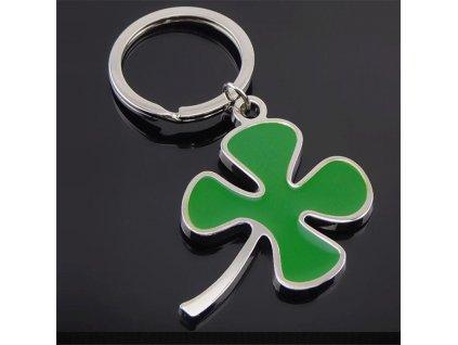 Přívěsek na klíče - čtyřlístek barevný 2