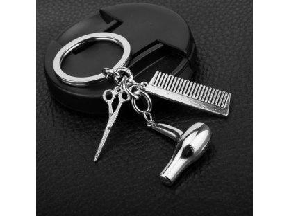 Přívěsek na klíče - kadeřnický set