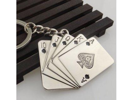 Přívěsek na klíče - karty 2