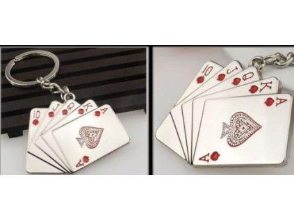 Přívěsek na klíče - karty
