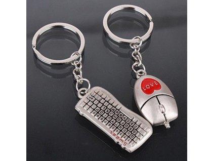 Přívěsek na klíče - klávesnice s myší pro pár
