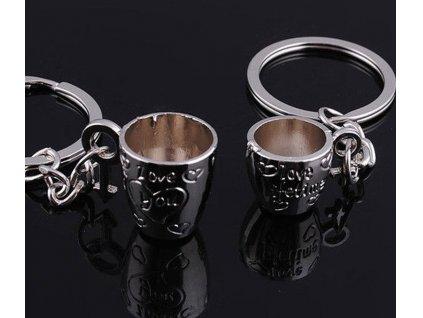 Přívěsky pohárky na klíče pro pár
