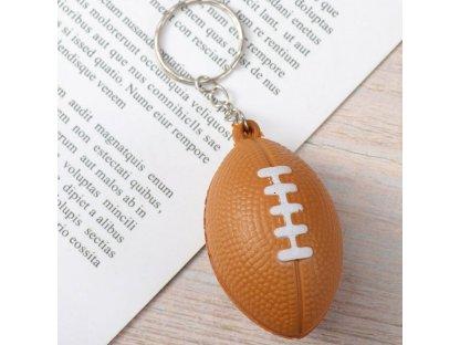 Přívěsek na klíče - ragbyový míč