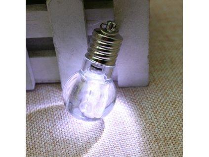 Přívěsek na klíče - Žárovka - SVÍTÍ !