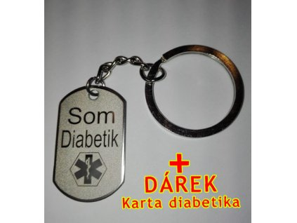 Přívěsek Som Diabetik na bundu, klíče