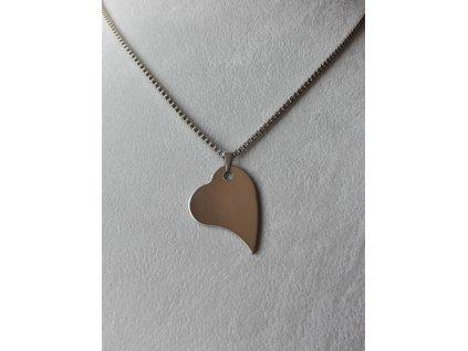 Přívěsek srdce male s Vaším motivem včetně řetízku