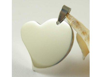 Přívěsek srdce velke masivni s Vaším motivem včetně řetízku