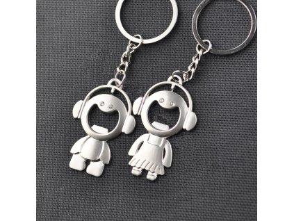 Přívěsky na klíče - holčička, chlapeček pro pár