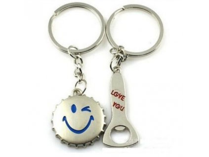 Přívěsky na klíče - zátka, otvírák pro pár