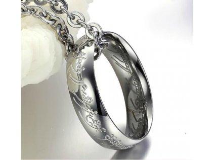 """Prsten """"MILÁŠEK"""" z filmu Pán prstenů včetně řetízku"""