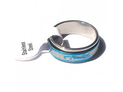 Prsten R-024 s motivem ještěrka modrý