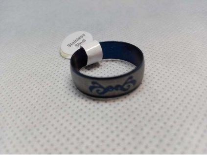 Prsten R-143 - modrý s motivem 2