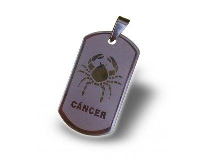 Rak - znamení zvěrokruhu včetně řetízku