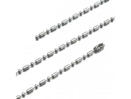 Řetízek z chirurgické oceli - 2.5 mm, 40 až 55 cm