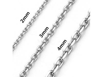 Řetízek z chirurgické oceli - 3 mm, 51 cm