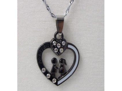 Srdce černo - bílé